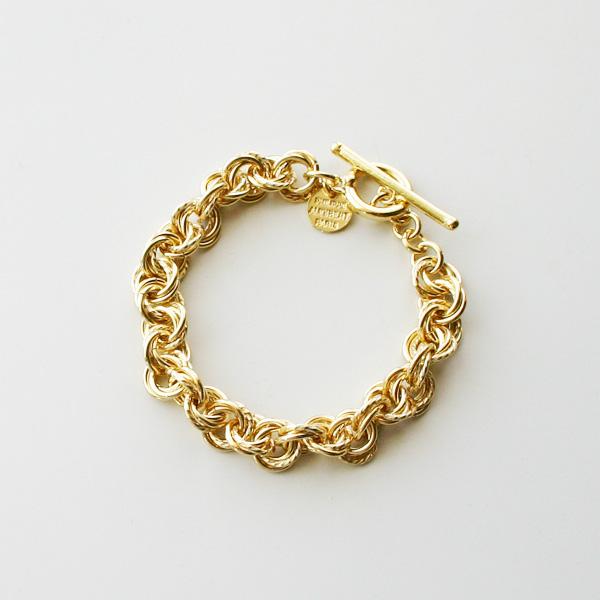 PHILIPPE AUDIBERT/Poe bracelet brass light gold color,