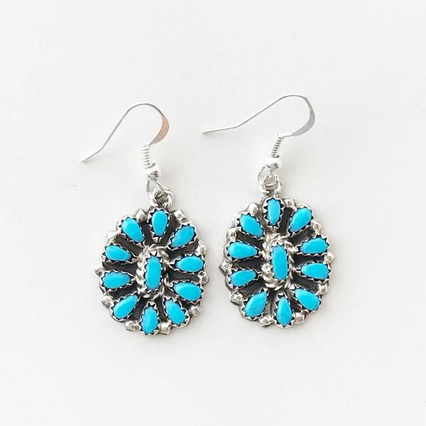 【再入荷】 HARPO/BO03 Small Flower Earrings in Turquoise