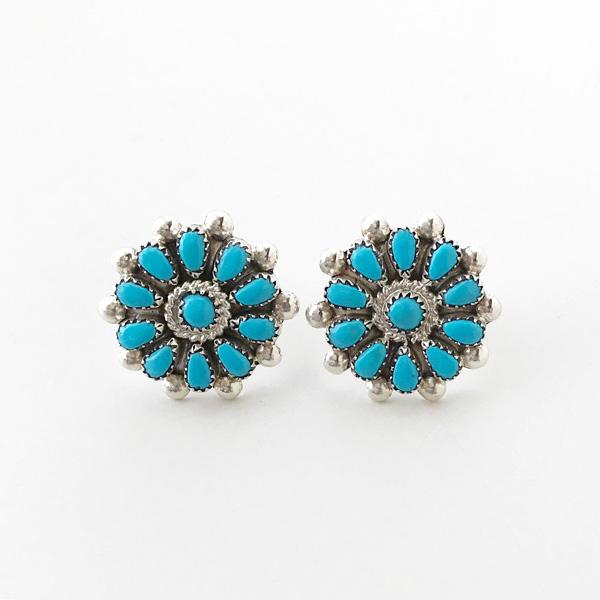 【再入荷】 HARPO/BO08 Small Flower Post Earrings in Turquoise
