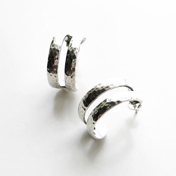 PHILIPPE AUDIBERT/Besna hoop earring brass silver color,