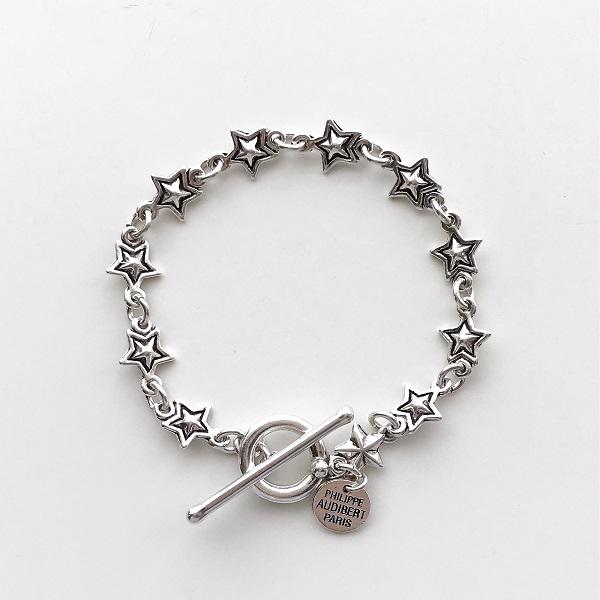 【再入荷】  PHILIPPE AUDIBERT/April bracelet, pewter silver color,