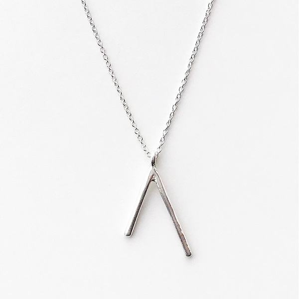 ANOTHER FEATHER/DART NECKLACE