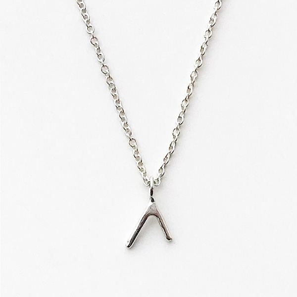 ANOTHER FEATHER/SMALL DART NECKLACE