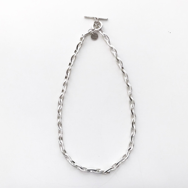 PHILIPPE AUDIBERT/Elton necklace S, brass silver color,