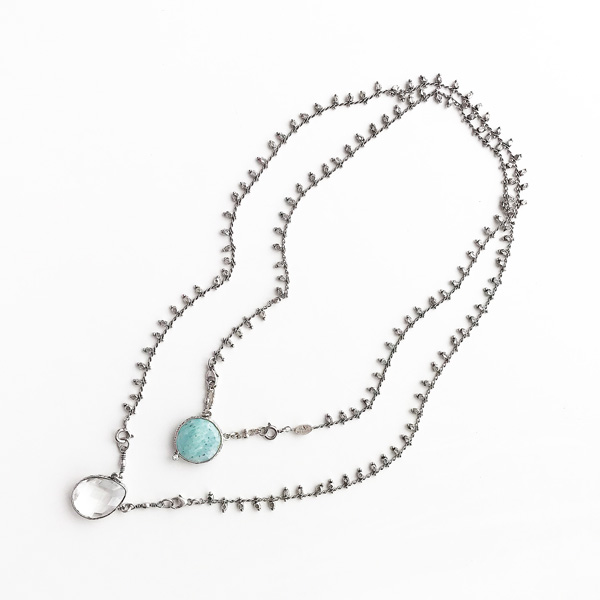 Gas Bijoux/Scapulaire Serti Necklace in Silver(ネックレス)