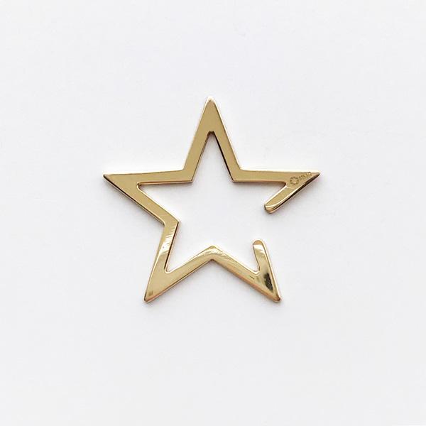 Saskia Diez/Star Earcuff Big 925 Ag Warm Gold