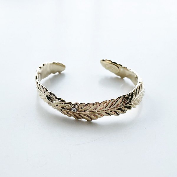 gren/feather bangle/GLD