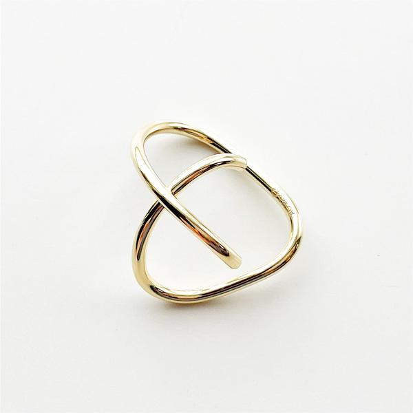 Saskia Diez/WIRE BOLD EARCUFF CROSS 925 AG, GOLD PLATED