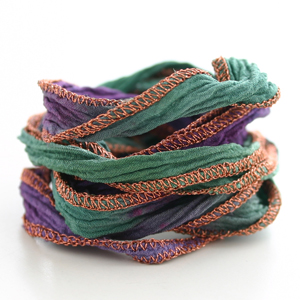 CATHERINE MICHIELS/Hand Dyed Silk 【Purple Green】