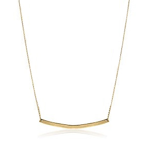 adina reyter/SMALL ARC NECKLACE(SINGLE CHAIN) in GOLD