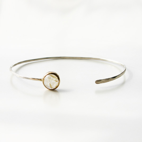 MELISSA JOY MANNING/Limited Edition 14 karat gold and sterling silver gold Bracelet