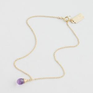 RueBelle Designs/Anklet 14k gold filled chain & findings amethyst Purple & Gold