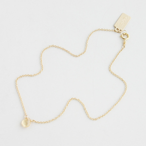 RueBelle Designs/Anklet 14k gold filled chain & findings imperial topaz Yellow Crystal & Gold