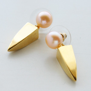 Lizzie Fortunato Jewels/Pearl Dagger Earrings