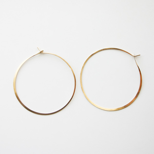 "MELISSA JOY MANNING/Extra Large Hoops 1.75"" diameter"