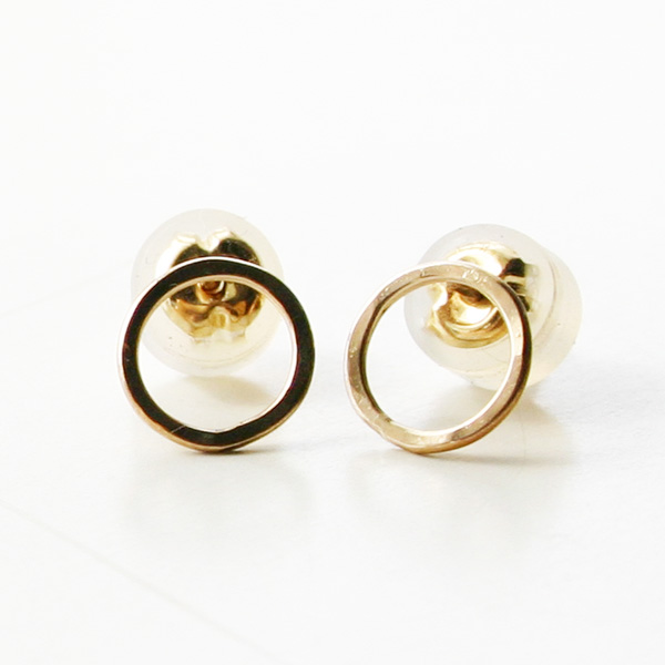 MELISSA JOY MANNING/round mini post earring