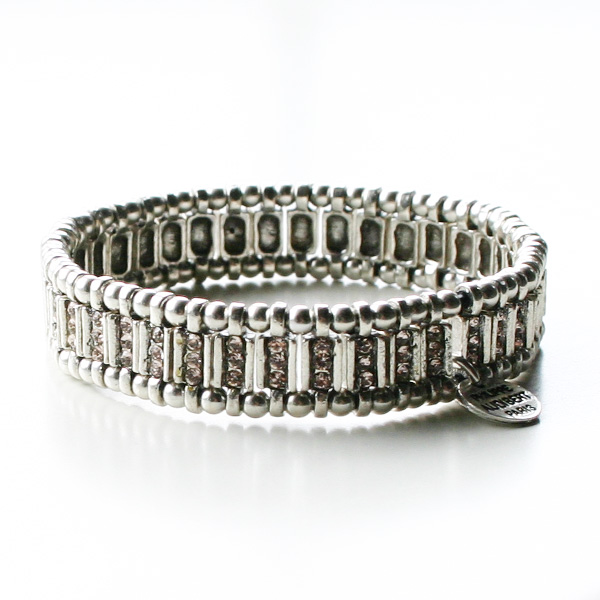 PHILIPPE AUDIBERT/mini Ava bracelet silver color, silk