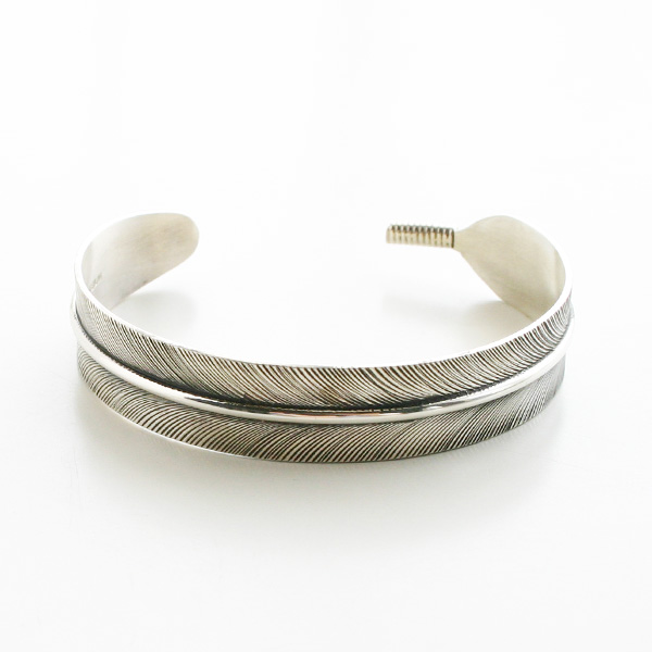 HARPO/Medium Feather Bracelet in Silver