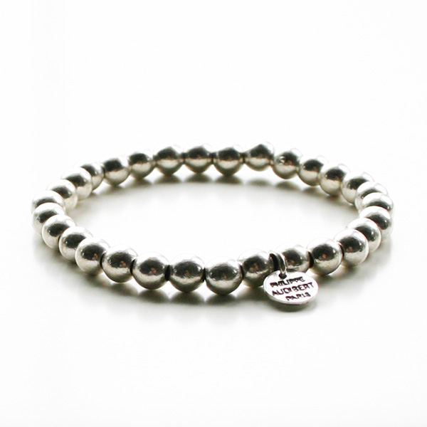 【再入荷】PHILIPPE AUDIBERT/Perles Metal Bracelet Silver Color