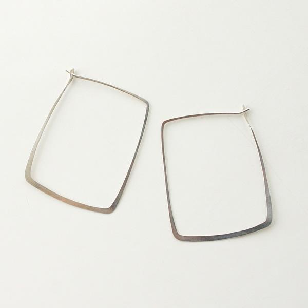 MELISSA JOY MANNING/Sterling silver square hoop