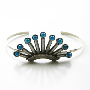 【60%OFF】 The2BANDITS/Rodeo Queen Cuff Silver, Howlite Turquoise