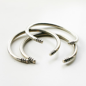 The2BANDITS/Rigby Bangle (set of 3) Silver