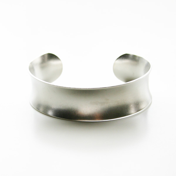 a.v.max/concave cuff X=single cuff imitation matte rhodium plated brass