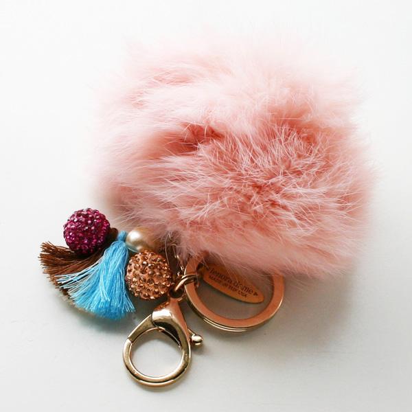 lenora dame/Fur Keychain/Pink