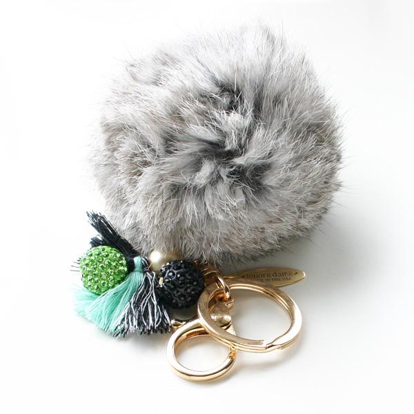 lenora dame/Fur Keychain/Grey