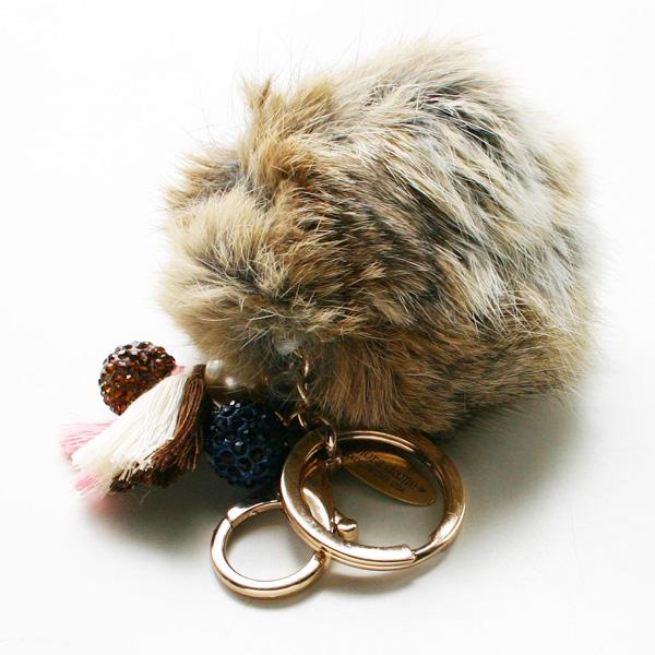 lenora dame/Fur Keychain/Brown