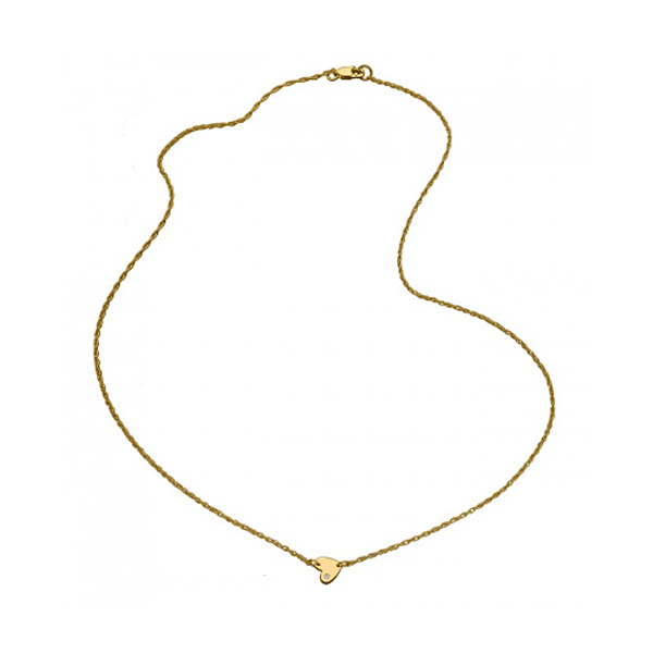 jennifer zeuner/Baby horizontal heartNecklace