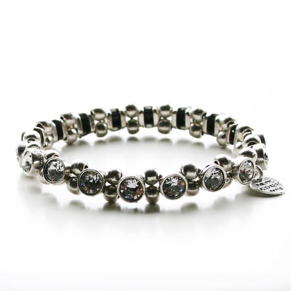 PHILIPPE AUDIBERT/rhinestone bracelet silver color, Crystal Rhinestones