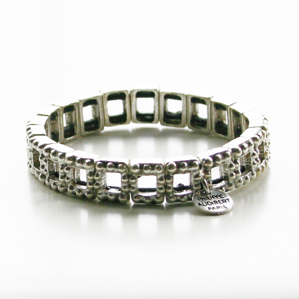 PHILIPPE AUDIBERT/Jersey Bracelet Metal Plated in Silver