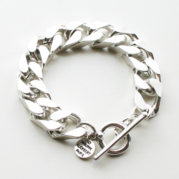 PHILIPPE AUDIBERT/Matt chain bracelet Silver Color,