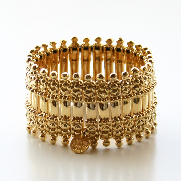 PHILIPPE AUDIBERT/Verona metal cuff pewter gold color