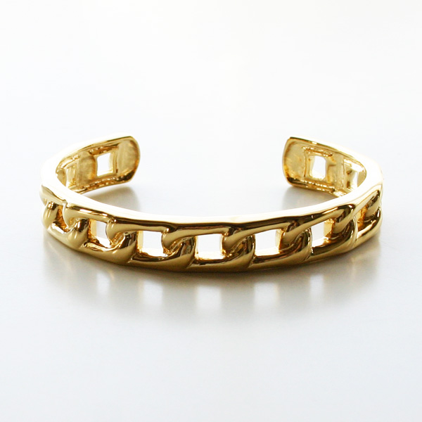 PHILIPPE AUDIBERT/rigid bracelet, brass gold color