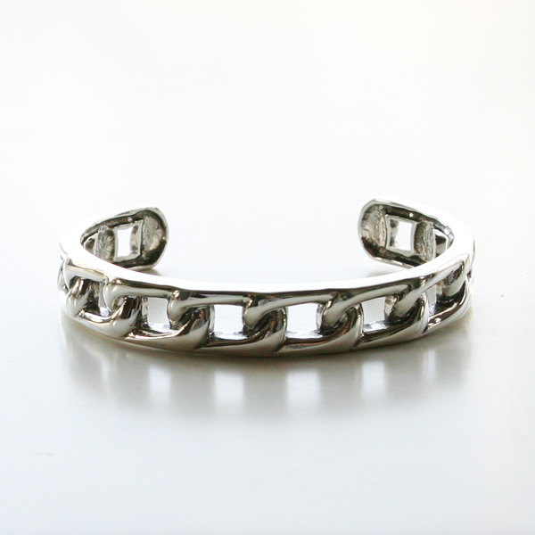 PHILIPPE AUDIBERT/rigid bracelet, brass silver color