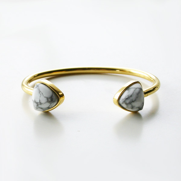 Lizzie Fortunato Jewels/Inca Cuff in Howlite