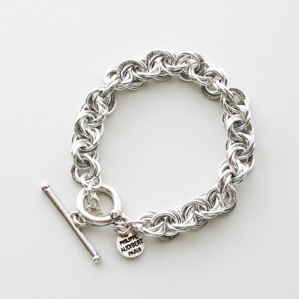【予約販売/7中再入荷(変更有)】  PHILIPPE AUDIBERT/Poe bracelet brass silver color,