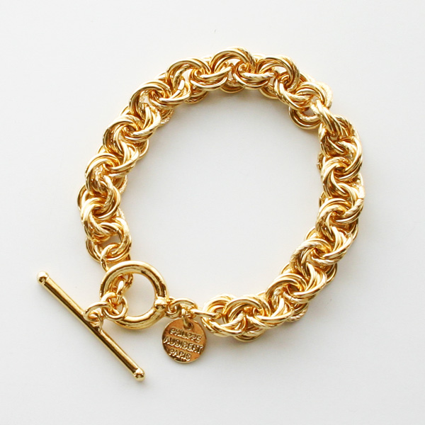 PHILIPPE AUDIBERT/Poe bracelet brass gold color
