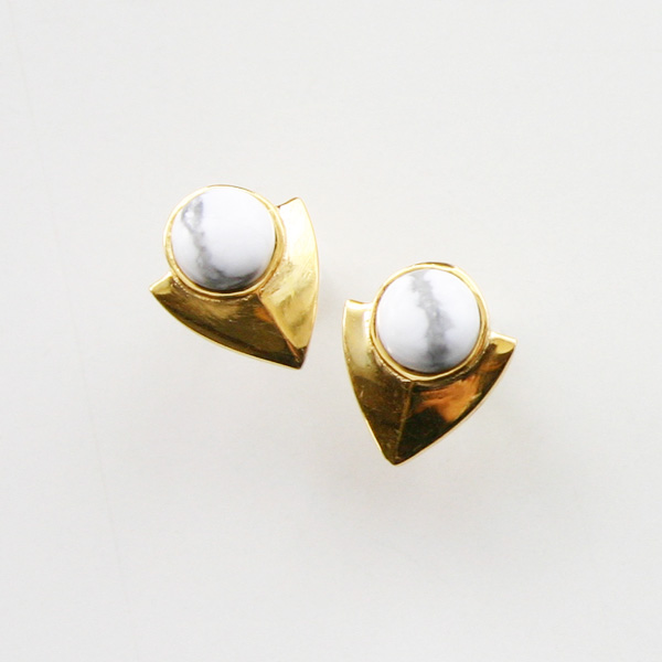 Lizzie Fortunato Jewels/Pre-Columbian Earrings in Howlite