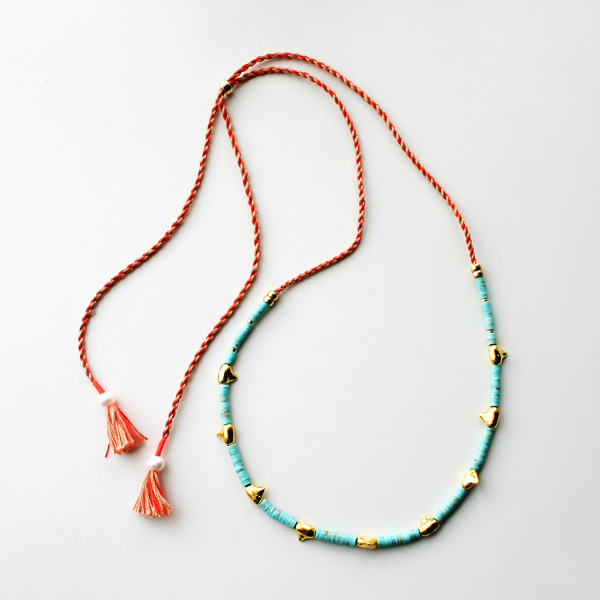 Lizzie Fortunato Jewels/Simple Tooth Necklace in Turquoise