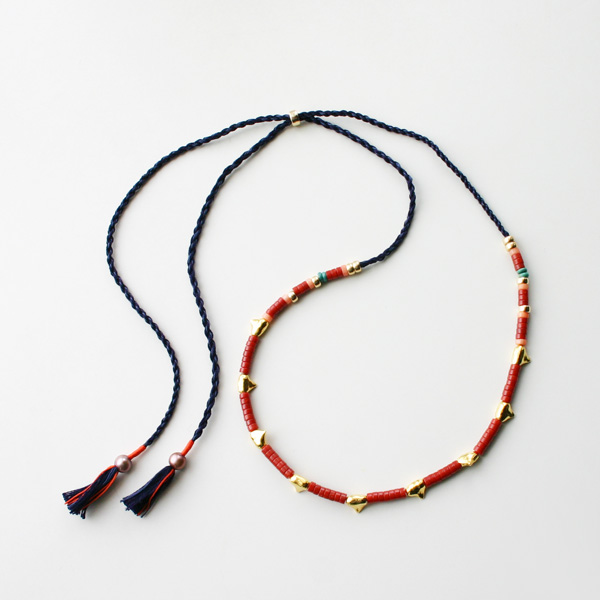 Lizzie Fortunato Jewels/Simple Tooth Necklace in Coral