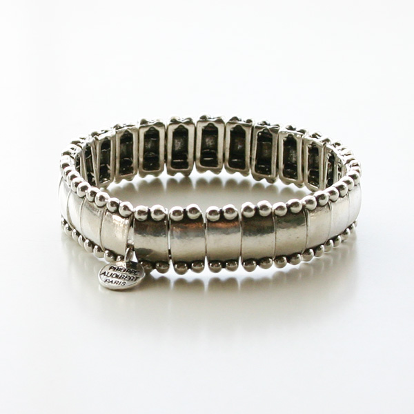 PHILIPPE AUDIBERT/Lou bracelet, pewter silver color,