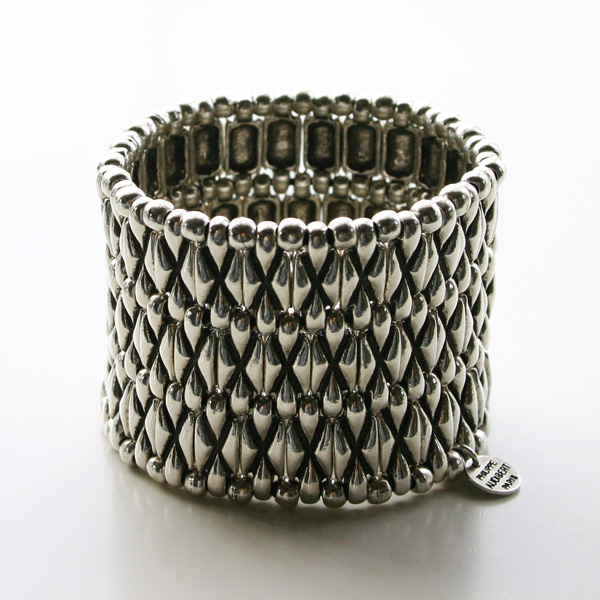 PHILIPPE AUDIBERT/Alester cuff 3, pewter silver color,