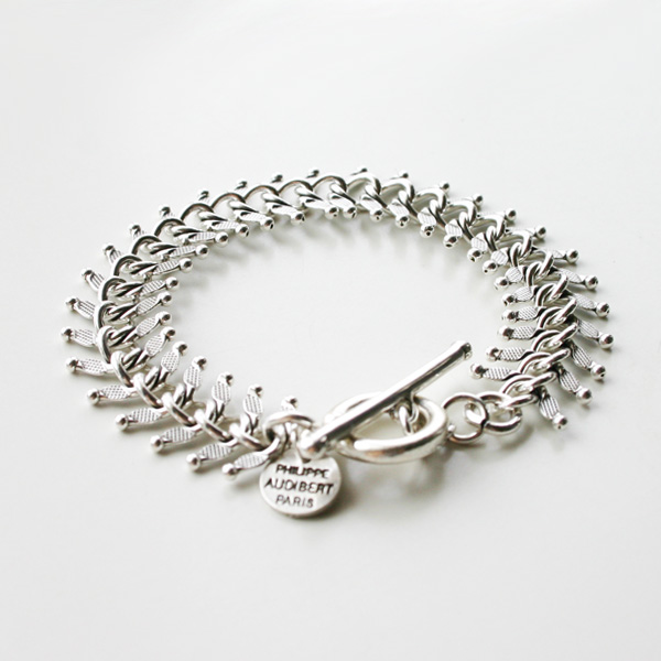 PHILIPPE AUDIBERT/Chain Bracelet Silver Color,