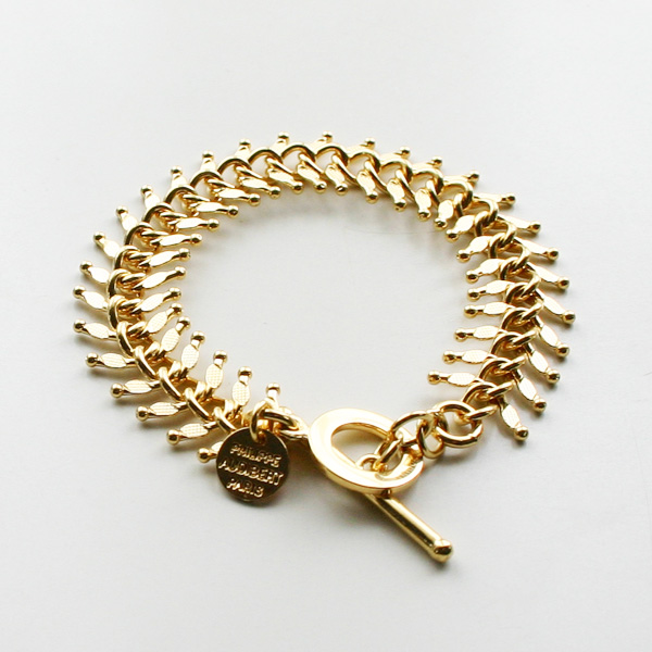 PHILIPPE AUDIBERT/Chain Bracelet Gold Color,