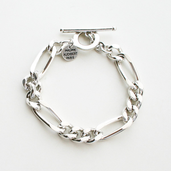 PHILIPPE AUDIBERT/Doug Chain Bracelet Silver Color