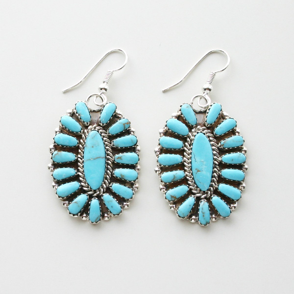 HARPO/FLOWER EARRINGS ER04/BO04 TURQUOISE