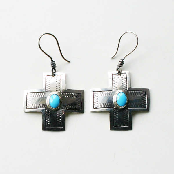 HARPO/CROSS EARRINGS ER06/BO03 TURQUOISE